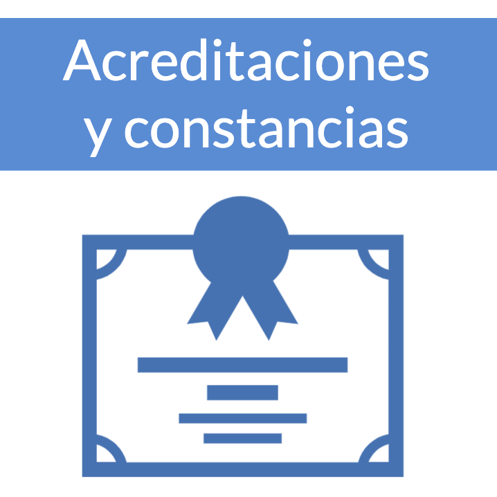 icono Acreditaciones y constancias